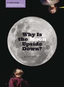 Why is the moon upside down cover.