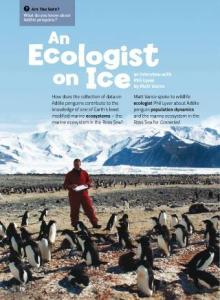 Ecologist on ice cover.