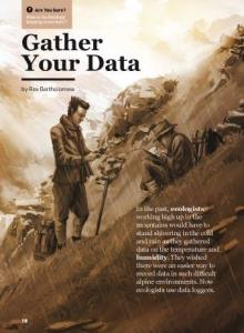 Gather your data cover.