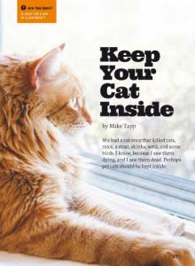 Keep your cat inside cover.