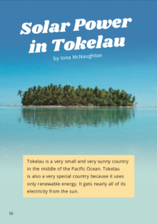 Tokelauan island in the water.