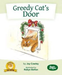 Greedy cat's door.
