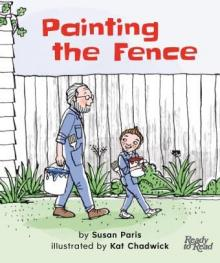Painting the fence.