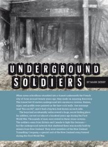 Underground soldiers cover.