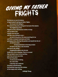 Giving my Father Frights cover page