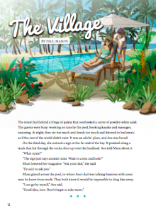 The village cover page